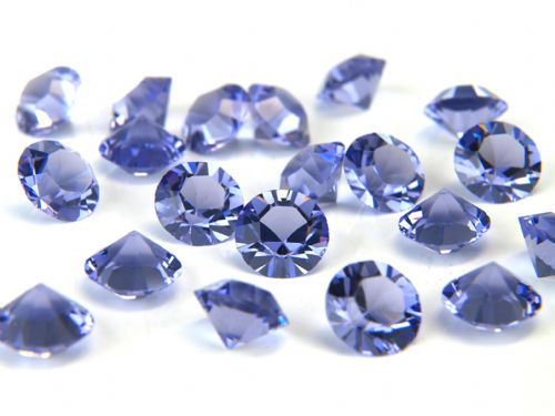 Pk 100 Swarovski Unfoiled Table Crystals, Style 1028, SS24 (5.5mm), Tanzanite